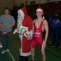 Paul Penner und der Nikolaus vor dem Trainingskampf